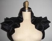 Black Shrug Bolero Gothic Shoulder Wrap- READY TO SHIP
