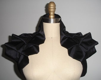 Black Shrug Bolero Gothic Shoulder Wrap- READY TO SHIP