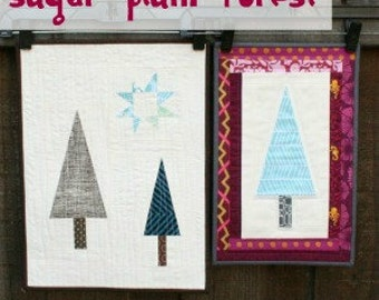 Sugar Plum Forest Mini Quilts  - Modern Quilt Pattern - INSTANT DOWNLOAD