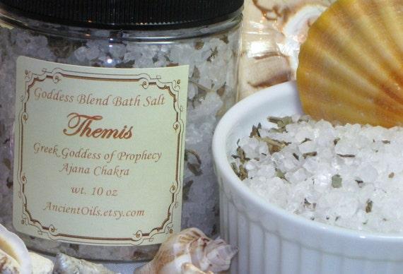 Third Eye Chakra Bath salts - Themis Greek Goddess of Prophecy Bath Salt 8 oz.