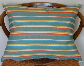 Colorful Cabana Stripe Pillow Cover