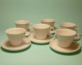 Midcentury Franciscan Ware Teacups & Saucers