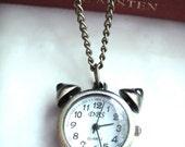 Clock Brass Necklace