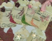"Tag Set ""Roses""  Set of Six Hang Tags"