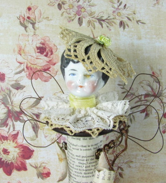 """Fairy """"One Day When We Went Walking Maize""""  Assemblage Art Doll SALE PRICED reduced 40%"""