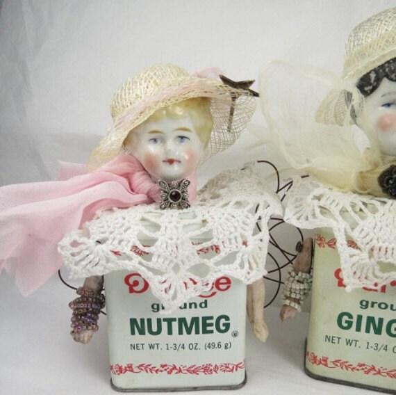 """Angel """"Nutmeg""""  Assemblage Spice Girls Art Doll"""