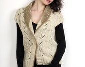 15% Off Hand knitted wool vest I Designer knitwear