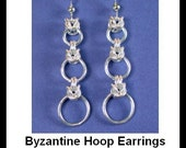 Chainmaille Kit with Tutorial - Byzantine Hoops Chainmaille Earrings in Argentium Sterling Silver