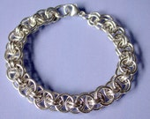 Parallel Helm Bracelet Chain maille Kit with Tutorial in 16 gauge Argentium Sterling Silver