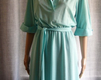 Vintage 1960s Ms. Sugar Blue/Green Dress-ON SALE