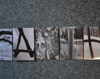 5 Nature Word Art Photgraphy Letters Alphabet