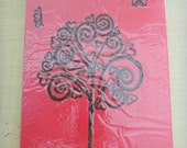 Clearance Sale - Swirly Tree Henna Painted Acrylic Painting - OOAK - Unique Gift