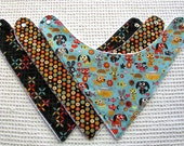 Baby Bib Giftset of Three Bandana Bibs Dogs