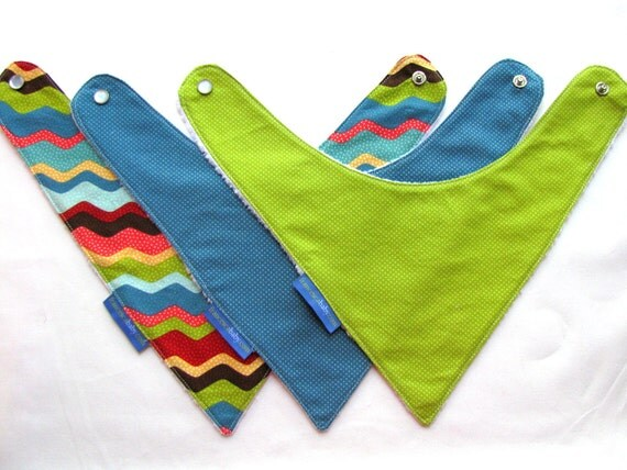 Baby Bandana Bibs - 3 Unique Baby Bibs - Ultimate Drool Bib