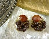 fresh fruity clip on earrings