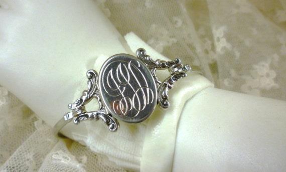 petite avon locket bangle and monogrammed