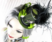 Reserved for sliverofdoom. Toxic Zombie Green Mini Top Hat.