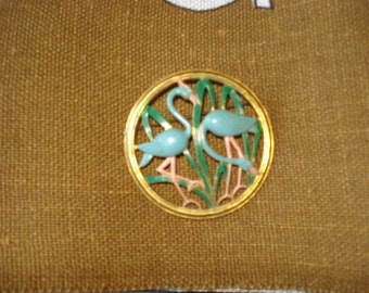 Vintage  Heron Egret Bird Pin Brooch