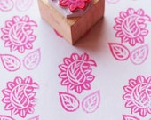Hand-Carved Rubber Stamp - Exotic Mango Leaf - Custom and Unique Designs