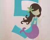 Mermaid, under the sea themed Centerpiece or Cake Topper