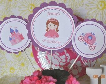 Princess, Fairytale centerpieces, set of 3