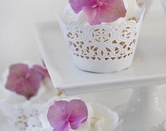 Elegant White Cupcake Wrappers