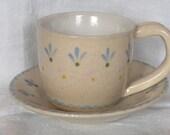 Handmade Ceramic Cup and Saucer