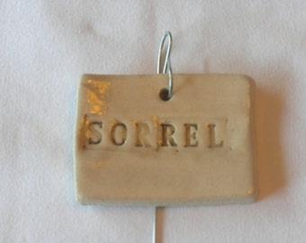 Sorrel Plant Marker