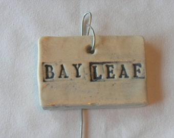 Bay Leaf Plant Marker
