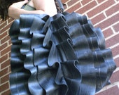 Eco Bike Tube Ruffle Bag - Recycled Rubber Shoulder Bag
