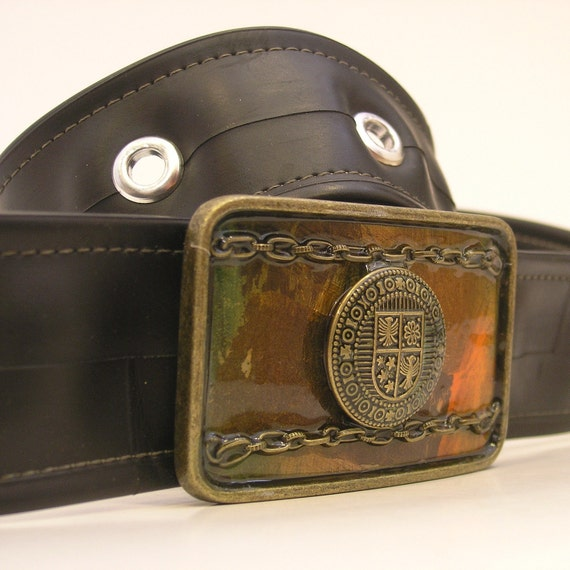 One of a Kind Belt Buckle - Ready to Ship