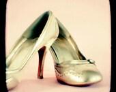 I love my Gold Shoes - Art Print