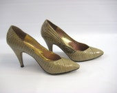 SAVED FOR DENISE 70's J.Renee Designer Snakeskin Heels (Size 6)