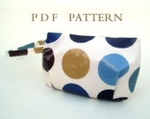 Mini Zipped Wristlet Pouch Downloadable Pattern