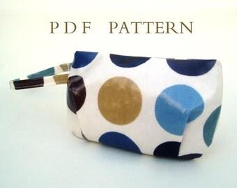 Mini Zipped Wristlet Pouch Downloadable Pattern