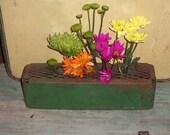 Old Rusty green Industrial Metal Basket box