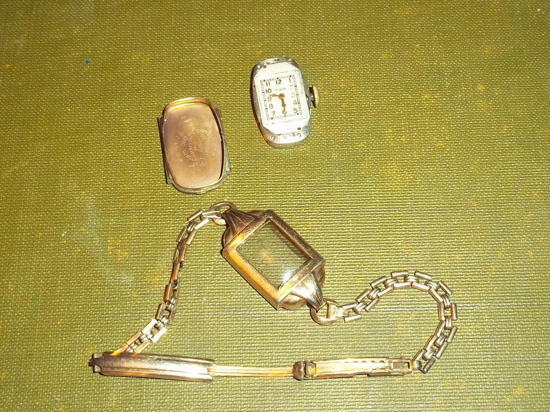 Vintage Elgin 10k Gf 7 Jewel Ladies Wrist Watch And 1 20 12k