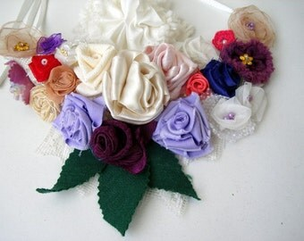 Free shipping Multicolor Statement Bib Necklace Wedding Heaven Spring Garden 40% discount
