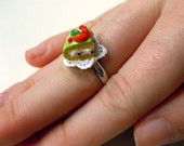 Miniature cassata siciliana cake ring