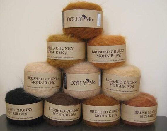 DollyMo Chunky Brushed Mohair Yarn - Buy 2 Balls & Save 10%