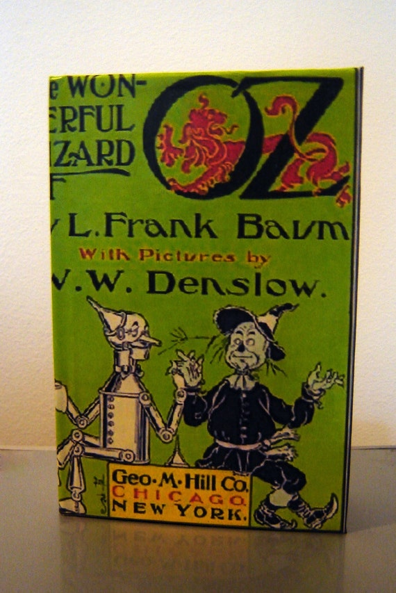 Earth Day Re-cycled, Up-cycled, Re-purposed Versatile Storage BOOK-BOX -  Wizard of Oz