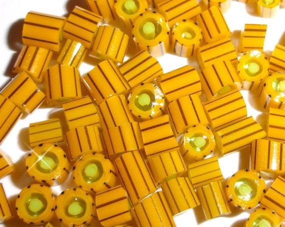 Mad as a Hornet......Handmade Murrini Chips...Millefiori Slices......COE 104....Beatlebaby Glassworks