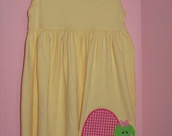 Personalized Yellow Turtle Dress