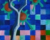 Twittertree No. 2 (Moonlit) - original abstract painting