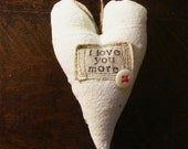 "the ""i love you more"" Christmas heart ornament"