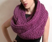 The New Yorker Circle Scarf in Fig Purple