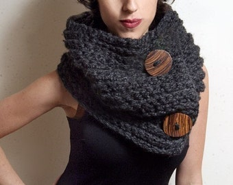 The Roycroft Cowl in Charcoal