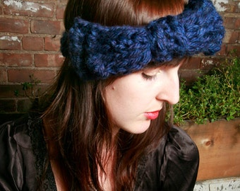 SALE - LuLu's Bow Headband in Purple Heather