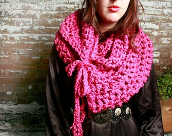 SALE - The Isobel Scarf in Raspberry Pink