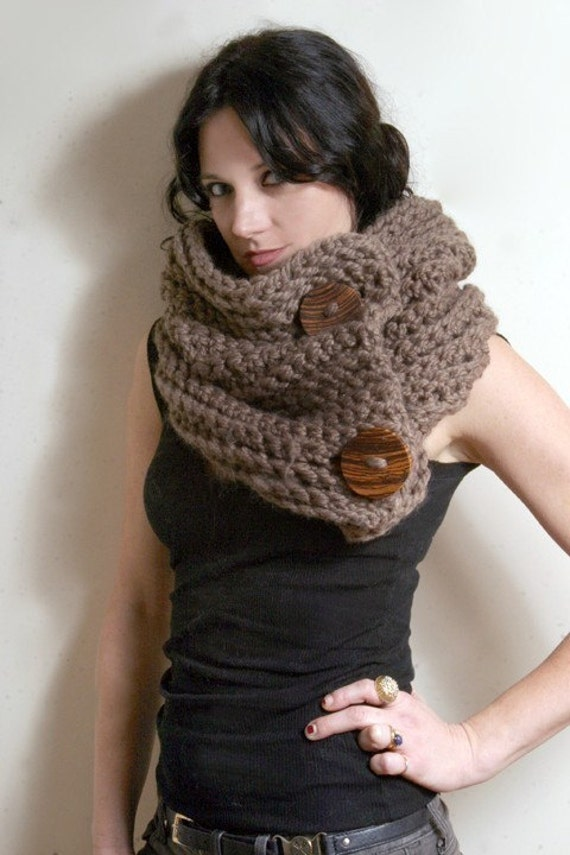 The Roycroft Cowl in Taupe